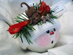 Dog Ornament Snowman Christmas Tree Bulb by TownsendCustomGifts