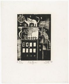 Cats (Katzen) from the portfolio Nine Woodcuts (Neun Holzschnitte)1920  Otto Dix (German, 1891–1969)