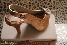 Zapato personalizado para tarta elaborado por The Cake Project en Madrid