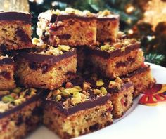 Pistachio Cranberry Bars - The Christmas version of chocolate chip cookies!