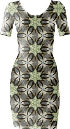 Gray Geometric Bodycon Dress