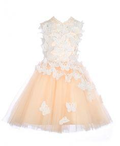 846f059132 Champagne Tulle Flower Girl Dress. Mrprettys