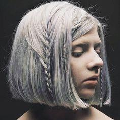Aurora Aksnes All my demons greeting me as a friend. Aurora Aksnes, Cute Hairstyles, Braided Hairstyles, Hairdos, Aurora Artist, Aurora Hair, Stavanger, Braids For Short Hair, Hair Goals