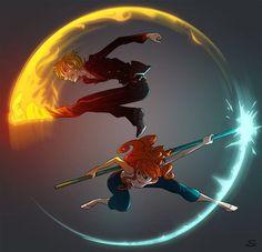 Sanji and Nami - One Piece