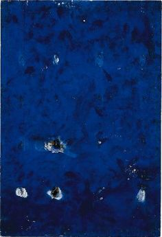 A Minute's Blue Fire Painting by Yves Klein (1957)