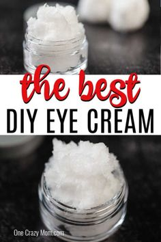 DIY Eye Cream is easy to make and only 2 ingredients needed. Homemade eye cream rejuvenates the skin and is all natural for the best natural eye cream diy. Diy Eye Cream, Homemade Eye Cream, Homemade Lip Balm, Homemade Skin Care, Homemade Beauty Products, Cream Cream, Homemade Facials, Diy Beauty Cream, Best Natural Eye Cream