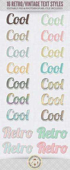 16 Free Retro Vintage Text Effect Styles | Starsunflower Studio Blog