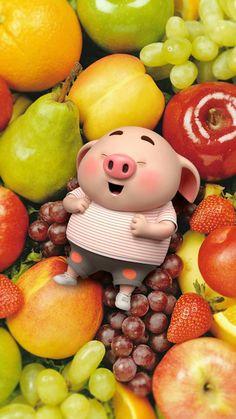 Lấy = follow #dưn Pig Wallpaper, Funny Phone Wallpaper, Disney Wallpaper, This Little Piggy, Little Pigs, Cute Piglets, Pig Illustration, Illustrations, Pig Drawing