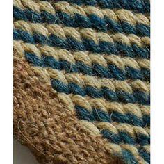 Alfombra de yute y algod n gris 240x170 cm proyecto alfombras y felpudos pinterest - Alfombras yute a medida ...