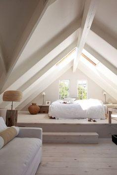 Nice 20+ Totally Inspiring Attic Bedroom Designs Ideas. # #AtticBedroomIdeas #BedroomDesignsIdeas