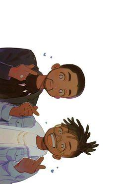 Lots of Love from the Wakanda Boys Dope Cartoon Art, Dope Cartoons, Black Cartoon, Cartoon Art Styles, Black Panther Marvel, Black Panther Art, Marvel Dc, Marvel Fan Art, Hxh Characters