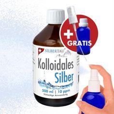 Reinstes kolloidales Silber, Höchste Schweizer Qualität, Sanftes Antibiotikum für Mensch und Tier. http://www.silbertau.com/Produkt-Angebot/Kolloidales-Silber/Kolloidales-Silber-10ppm-in-500-ml-Flasche-120.html #kolloidalesSilber #Silberwasser