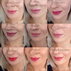 Heartbreaker LipSense | These are only a few of the colors we offer. You can use three colors ...