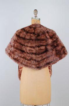 vintage mink stole  available now at Le Mollusque