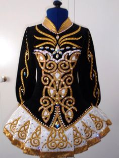 In LOVE with this solo dress for performance/competition. I'm a sucker for black & gold!   Elevation Designs (for 2012 NANs)