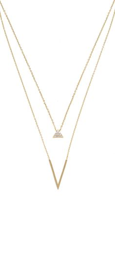 Combine clean, geometric lines with dainty sparkle for a layered minimalist look!