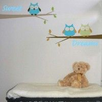 Sweet Dreams Owls Wall Stickers Our stickers can not only going on walls but all kind of surfaces such as doors, windows, glass, wood or canvas. Wall stickers provide depth, enlarge your room and bring your walls alive.