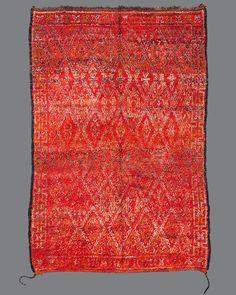 Vintage Moroccan Beni M'Guild Carpet BG12  I plan on using this rug for the living room