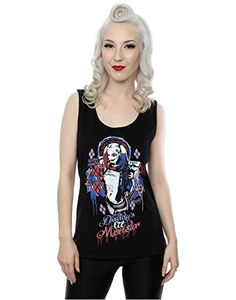 Suicide Squad mujer Harley Quinn Daddy's Lil Monster Camiseta X-Small Negro #camiseta #realidadaumentada #ideas #regalo