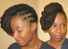 Plaited to the side