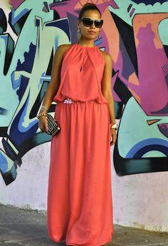 Coral dress , Pinko in Dresses, Zara in Clutches, Blumarine in Glasses / Sunglasses