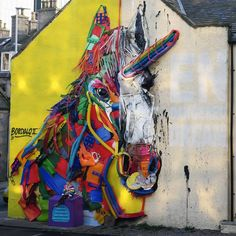 BORDALO II .. 'Trashunicorn' .. for NuArt .. [Aberdeen, Scotland 2018]