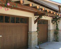 Santa Barbara Style Garage Doors Design, Pictures, Remodel, Decor and Ideas
