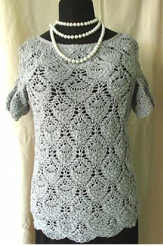 Crochet blouse Crocheted blouse Handmade by AlicjaCollection