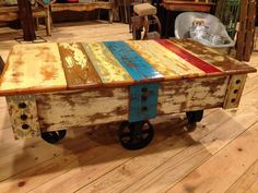 Merveilleux Shabby Chic Coffee Table Cart Handcrafted In Center, Texas By Back Country  Furniture Designs.