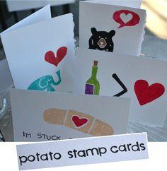 Potato Stamp Cards