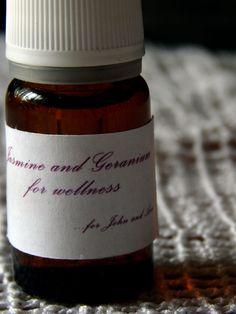Air Fresheners with geranium and jasmine..