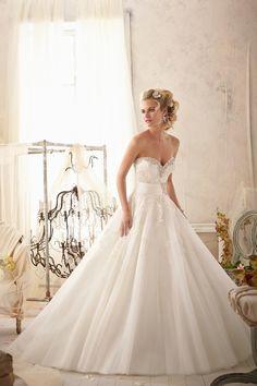 Sweetheart Chapel Train Organza Ball Gown Wedding Dress Wmr0115