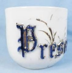 """Antique sentiment cup. I collect these charming little cups, also known as """"Friendship Cups."""""""