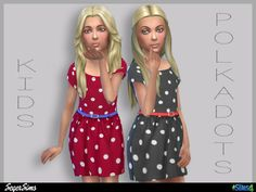 Sims 4 CC's - The Best: Kids PolkaDots Dress by SegerSims
