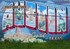 1000 images about uniquely austin on pinterest austin for Austin mural location