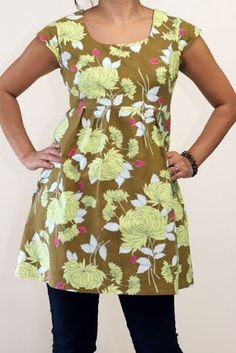 I like this as a long shirt Peaches and Bees: Belle Chrysanthemum Washi Dress for Me! Plus Size Sewing Patterns, Clothing Patterns, Dress Patterns, Clothes Crafts, Sewing Clothes, Washi Dress, Fashion Over Fifty, Cute Sewing Projects, Angel Dress