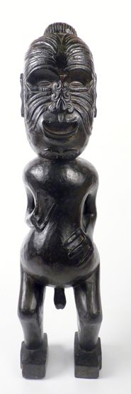 Tribal art has become a regular (and popular!) feature of our Country House sales - This Maori softwood figure reached £650.