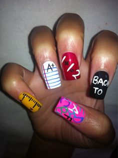 back to school nails, for the end of the Summer...