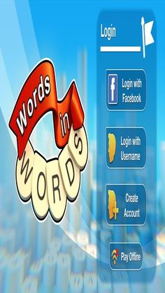 Words In Words is a fast paced word game you can play by yourself or against other players. Find as many words as you can with the letters in the start word