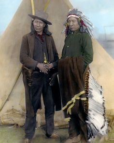 "Red Cloud American Horse Native American Indians 8x10"" Hand Color Tinted Photo 
