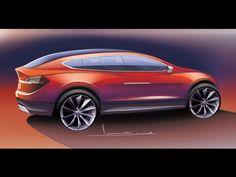 2012 Tesla Model X - Sketch 4 - 1920x1440 - Wallpaper