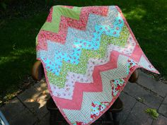 Chevron Baby Quilt - Ruby by Bonnie and Camille for Moda  31 x 38 via Etsy.  @Joy Lane