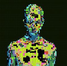Pixel Noizz   Glitchy 8 Bit Structures inspiration