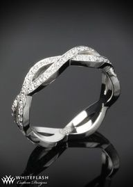 Platinum full eternity #wedding band, accented by milgrain in a beautiful braid design - Marry me