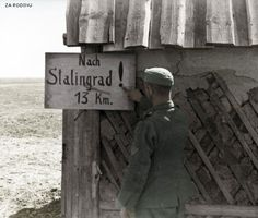 German soldier near Stalingrad 1942