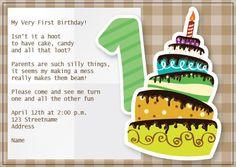 BFY_020 Invite, Invitations, Baby First Birthday, First Birthdays, Monkey, Candy, How To Make, Fun, One Year Birthday