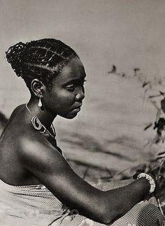 "1952 Vintage Africa Black Negro Female Portrait Hair Fashion Jewelry Photo ART | eBay. Original vintage 8 x 10"" photo used for stamp"