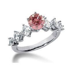 2.00 Karat Pink Diamant Ring aus 585er Weißgold. Ein Diamantring aus der Kollektion Pink von www.pearlgem.de