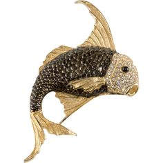 Ciner Rhinestone Fish Brooch