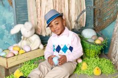 """""""Easter Fun"""" Portrait Creations children's photography studio located in Charlotte, NC."""